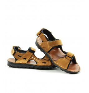 Cheru_ Men's Strap Open Shoe