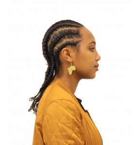 Ellilta Africa  Map Shaped Earrings