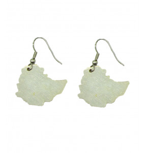 ELLILTA Ethiopia Map Shaped Earring