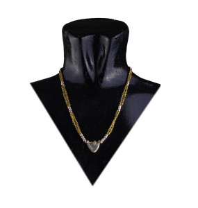 Ellilta Bullet Recycled Short Golden Necklace