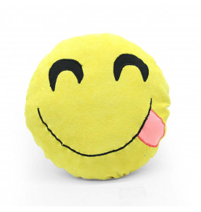 Emoji Round Smiley Emoticon Cushion Stuffed Plush Soft Pillow