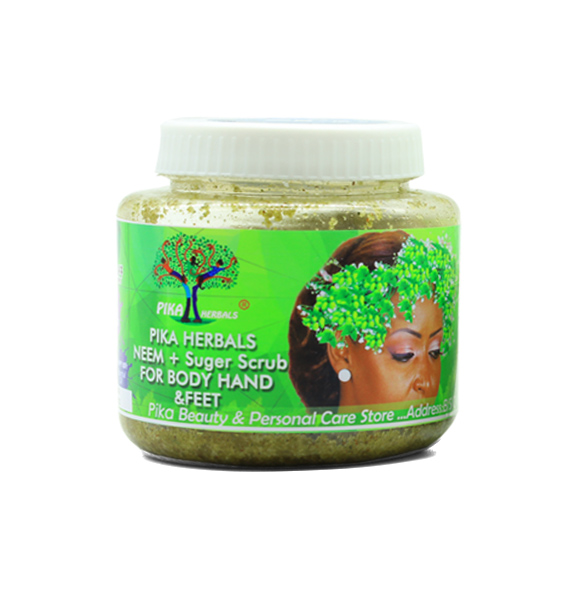 Pika Herbals Neem + Sugar Scrub For Body Hand & Feet