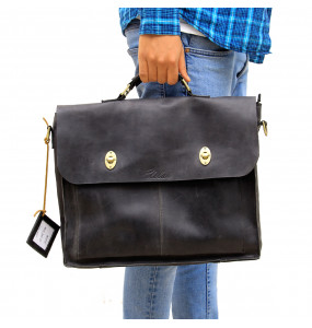 Elean Genuine Leather Laptop Bag