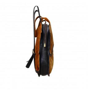 Elean Classic Genuine Leather Unisex School Backbag