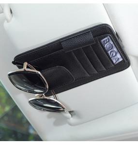 Boqa Leather Car Sun Visor Card Organizer Bag