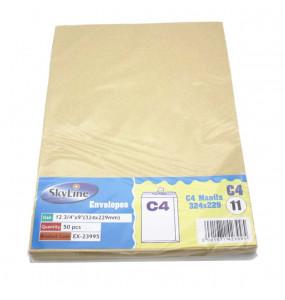 Sky Line Envelopes C4 Manila 324*229  (Pack of 50)