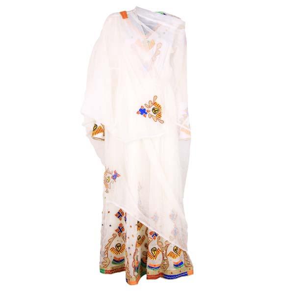 "AmanuaL_Women's Handmade Beautiful Design Traditional Dress With full Size ""Netela"""