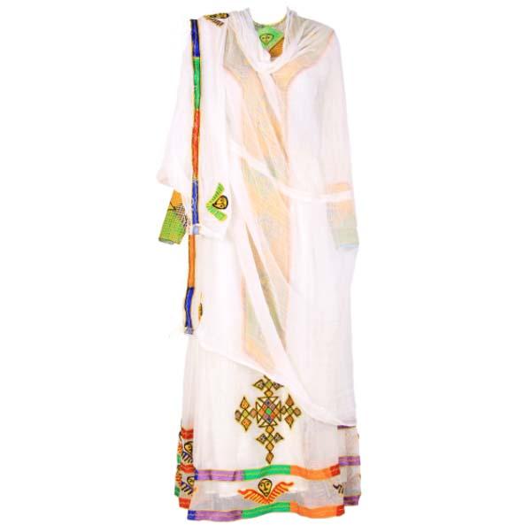 "Amanuel_Women's Handmade Beautiful Traditional Dress With full Size""Netela'"