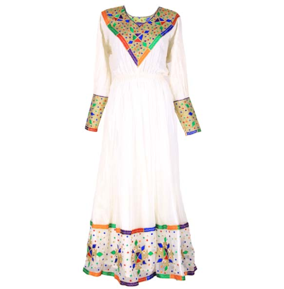 "Amanuel_Women's Handmade Beautiful Traditional Dress With full Size ""Netela"""