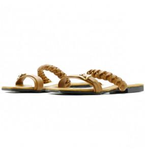 Seble_ Women's Genuine Leather Flat Open Shoe