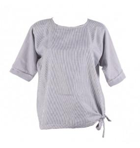 Eleni_ Women's Half Sleeve Stripe Shirt