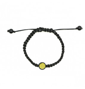 Yaread_  Unisex Hand Made Black String  Bracelet