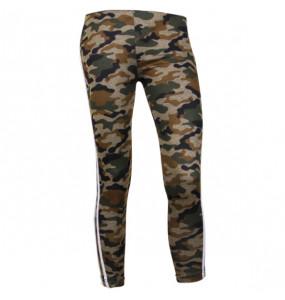 Haylu_ Women's Military print elastic high waist pants