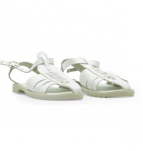 Esayas _Kids Leather White Sandal Shoe