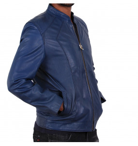 Ayele_ Men's Genuine Leather Jacket