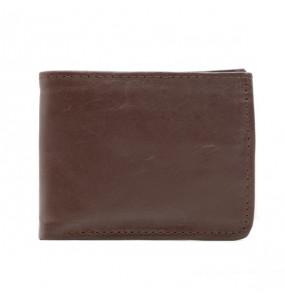 Minaleshewa_ Men's  Genuine Leather Brown Wallet Bag
