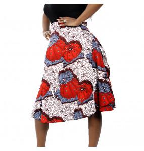 Abenech_Women's African Fabric wrap Around skirt