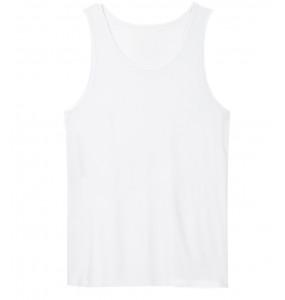 Fisha_ O - Neck Cotton Sleeveless T-shirt