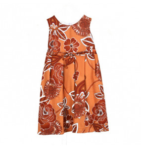 Lemi_ Kids Sleeveless, Round Neck Kids Dress
