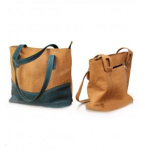 Betesayda_ Genuine Leather Large Size Women's Shoulder Bags
