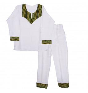 Yeweyneeshet _ Cotton Traditional Kid's Suit