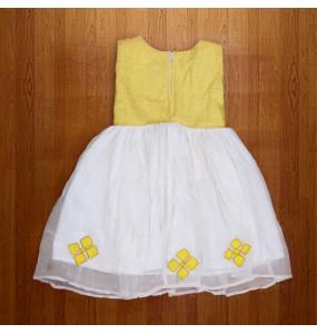 Kefiyalw_  Yellow Kids Traditional Dress