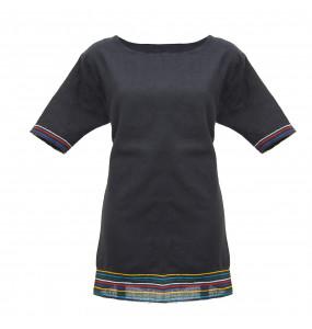 Hiwot_  100% Thread Made Women's Short Sleeve Dress