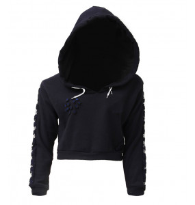 Hiwot_women's Long Sleeve  Hoodie Crop Top Sweatshirt