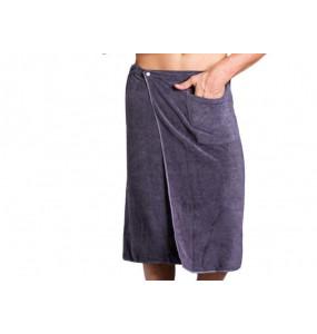 Mohamed_2pcs Set Bath Towel with Pocket Men's Towel Beach Blanket Shower Skirt Sheet