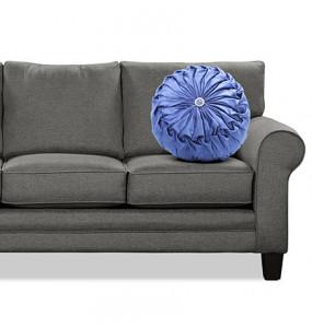 Mohamed_Velvet Chair Cushion Round Throw Pillow
