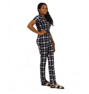 Baheru_ Women's  Leg Jumpsuit