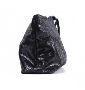 Teshome_ Fashion Black Shine Cosmetics Bag