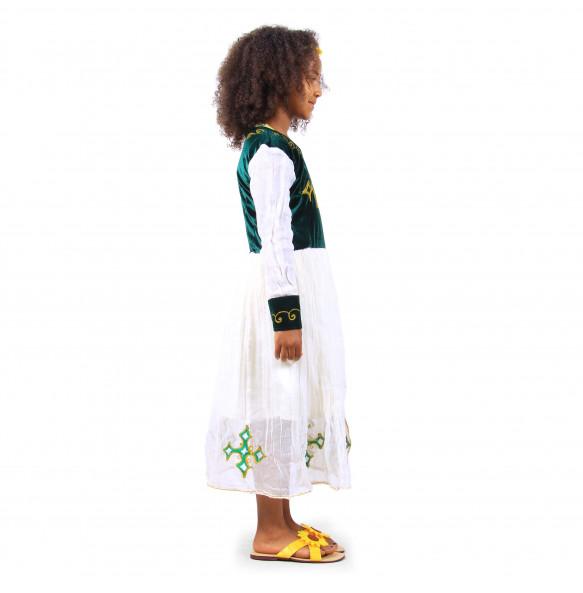 Terefe _ Kids Long-Sleeved Traditional Dress