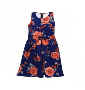 Zewdneshe_ Kids Sleeveless Flora print Dress