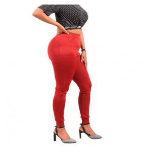 Ferehiwot -Women's stretch high waist pants with pocket