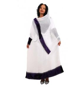 """Mulu_ Women's  Beautiful Traditional Dress With """"Netela"""""""