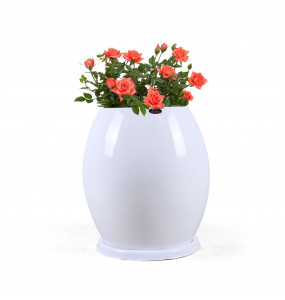 Ball Shape Plastic Large Flower Pot