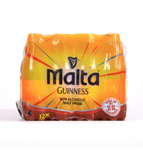 Malta Guinness Non Alcoholic Malt Drink 12 Packs