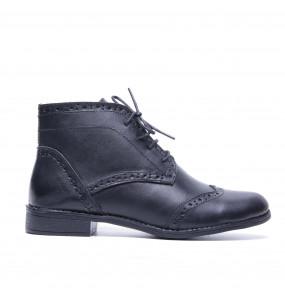Weynshet_ Leather Women's Short Boots ShoeWeynshet