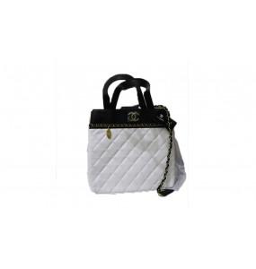 Beza_Chanel White Women's Bag