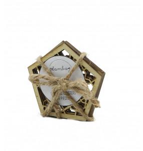 Lamba_ Plywood Coasters 6 Pieces
