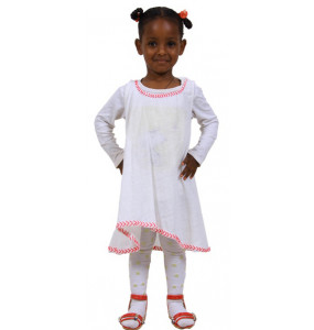 Ellilta kids 100% Cotton Sleeveless Traditional Dress (3-5 Year)
