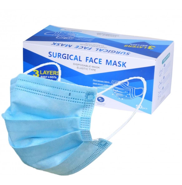 50 PCS Disposable Face Mask /3-Layer Medical Masks