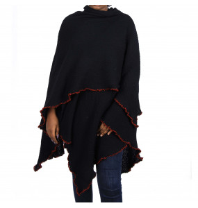 Ethiopia _Women's Thread Made Open Front poncho Cape