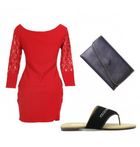 women's dress, bag and shoe (pack of 3)